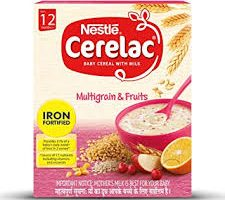 Nestlé CERELAC Fortified Baby Cereal with Milk, Multigrain & fruits – From 12 Months, 300g