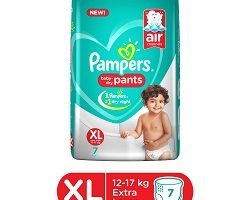 Pampers Pant Style Diapers Extra Large Size - 7 Pieces