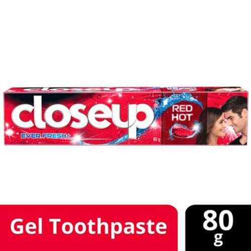 Close Up Ever Fresh Red Hot Gel Toothpaste, 80 g