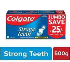 Colgate Strong Teeth Anticavity Toothpaste (500 g, Pack of 3