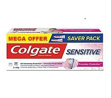 Colgate Sensitive Everyday Protection Toothpaste, For Sensitivity Relief, 160g, 80g X 2 (Twin Pack) (Pack of 2)