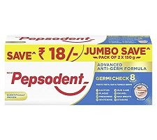 Pepsodent Germi Check Cavity Protection Toothpaste, 2X150 g
