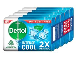 Dettol Cool Germ Protection Bathing Soap bar, 125gm (Pack of 5